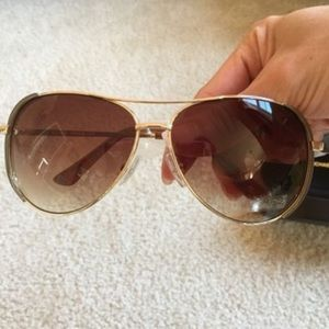 Michael by Michael Kors gold aviators